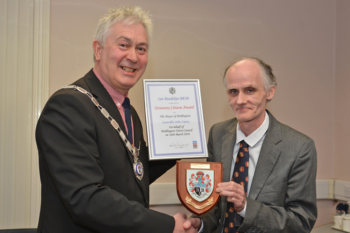 Ian Burdekin and Mayor John Copsey