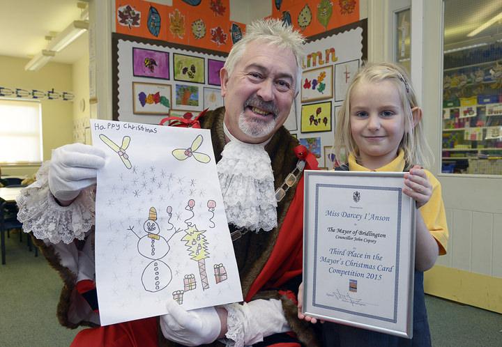 Darcey I'Anson with Mayor John Copsey