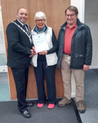 Third Place Winners - Grantlea Guest House - Mr and Mrs Odey with the Mayor of Bridlington Councillor Liam Dealtry